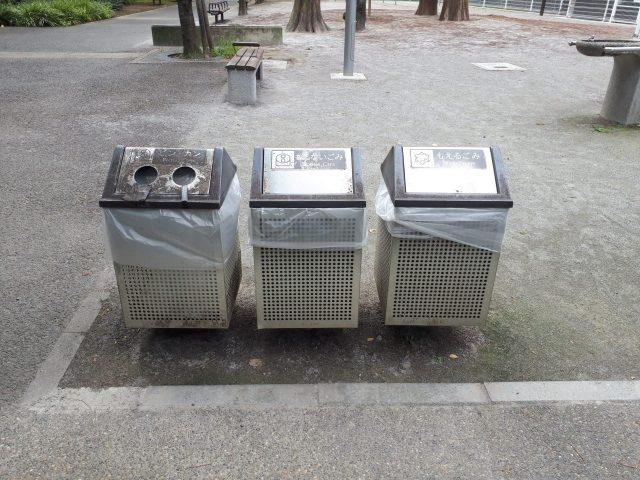 桜川公園_ゴミ箱